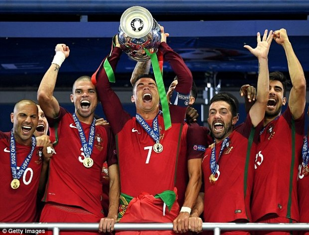 Cristiano Ronaldo won the European Championship with Portugal on Sunday, his first international trophy