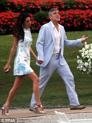 The Clooneys (pictured) Madonna, Donatella Versace and Richard Branson have owned villas on Lake Como