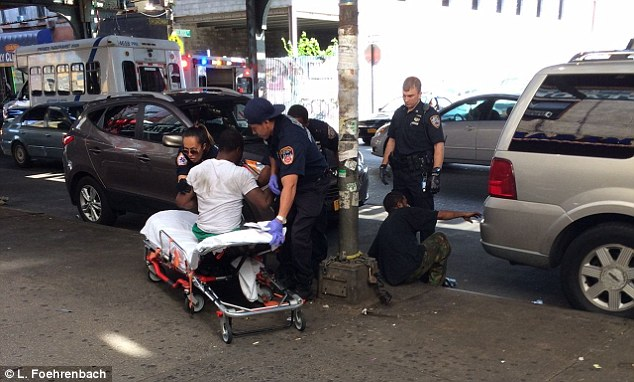 At least 17 people reportedly reacted to the drug almost simultaneously near Broadway and Myrtle Ave, an intersection that has become known as 'ground zero' for K2 addicts in the city