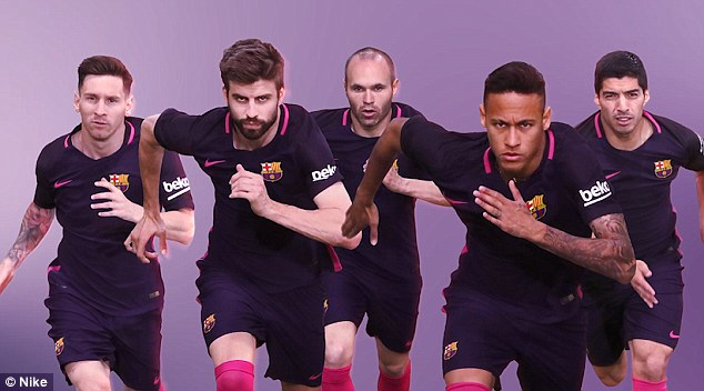 a0571b789 Barcelona release new purple away kit for the 2016-17 season - Pink ...