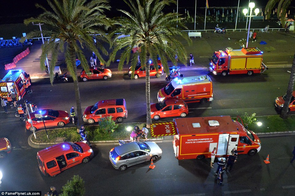 More than 150 people were injured during the massacre which took place as locals and tourists celebrated Bastille Day