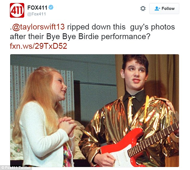 She was ambitious: Fox News reporter Cody Derespina shared a photo of himself aged 14 starring with an 11-year-old Taylor Swift in a production of Bye Bye Birdie and said Swift didn't like having to share the spotlight