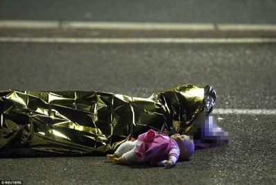 A young girl lies dead in Nice, France, after being killed in an Islamic terror attack. (via Daily Mail)  Nationalist Parties Surge as Europeans Take Their Countries Back 364DD6C100000578 3691019 image a 58 1468579992243