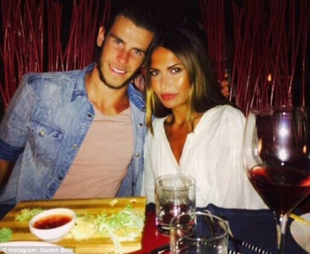 The couple met at high school in Cardiff and now live together in Spain with Bale playing at Real Madrid
