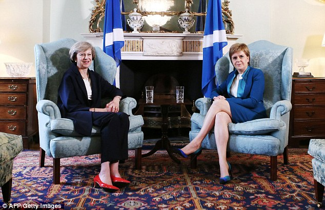 Image result for images of nicola sturgeon and theresa may