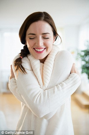 Giving yourself a hug can help ease stress in the short-term, helping to release the 'love' hormone, oxytocin