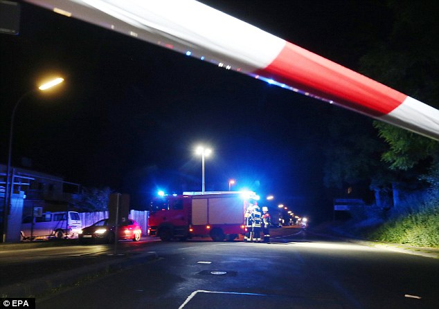 Police, fire and ambulance crews were all dispatched to the scene of the axe attack this evening