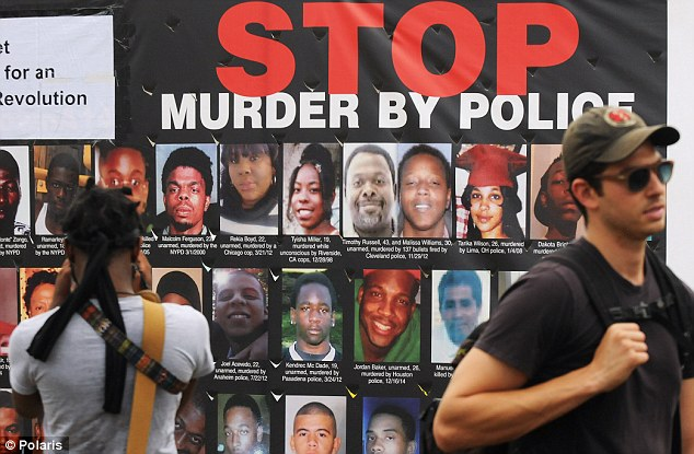 Prominent cause: The deaths of the black men and women in police-involved shootings and other police-involved incidents is now the focus of protests outside the Republican National Convention