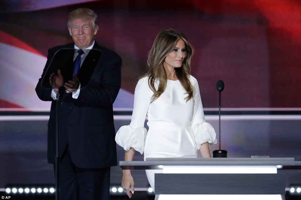 Melania was greeted by cheers as she paid tribute to US veterans and talked about her upbringing in Slovenia during her speech at the Republican National Convention in Cleveland