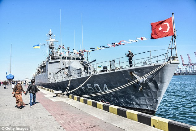 More than a dozen Turkish navy ships are reportedly still at sea and remain unaccounted for following the botched military coup (file picture)