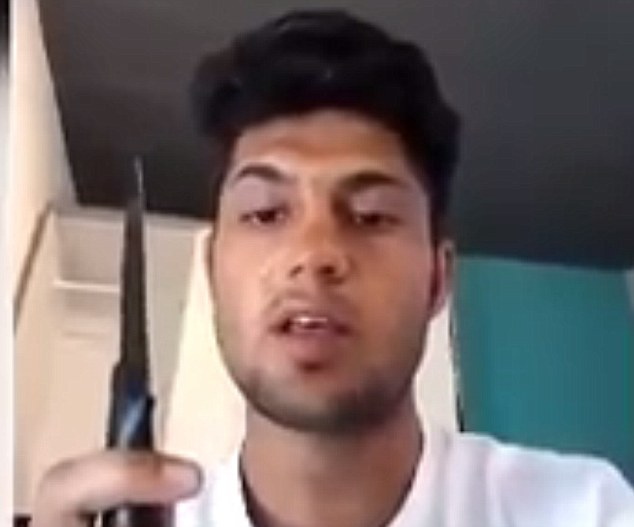 Riaz Khan Ahmadzai, 17, was ordered by ISIS to use an axe rather than a knife in his attack