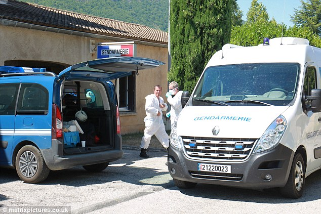 Garda-Colombe cerca de Laragne-Monteglin en los Altos Alpes, cerca de Montpellier, en el sur de Francia