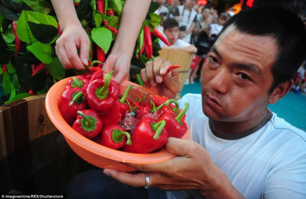 Feast of Fire and Ice chili-eating competition shown in ...