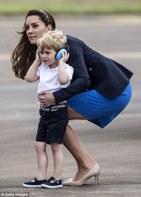 George made a rare public appearance recently when he donned ear defenders to explore the aircraft at the Royal International Air Tattoo in RAF Fairford - in what was his first official engagement in the UK