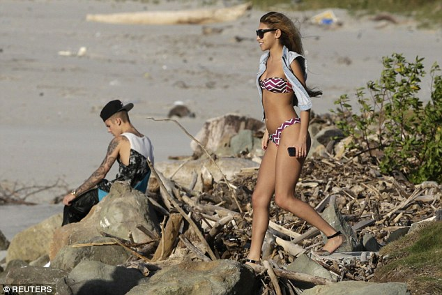 They were once inseparable: Bieber and Jeffries on the beach in Punta Chame, Panama City in 2014