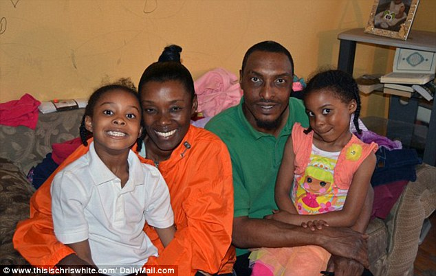 Muhammad Ali's son has dumped his wife and two children after inheriting his part of his late father's fortune, a report suggests. He's pictured (second right) with his wife Shaakira and children, Ameera, eight, and Shakera