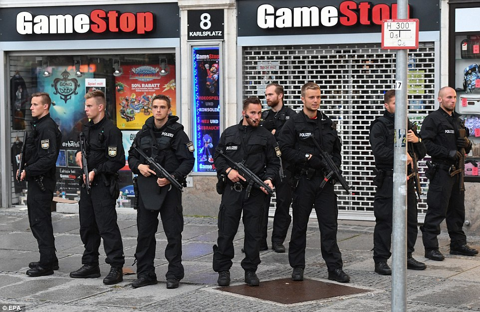 A second shooting was said to have taken place near Marienplatz subway station, which is just four miles from the Olympic Park area. But police could not confirm that was the case
