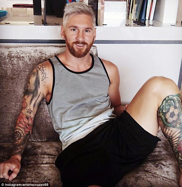 Lionel Messi revealed his new haircut on his wife Antonella's Instagram account on Sunday afternoon