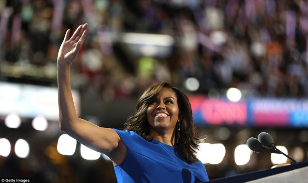 Miss you when you're gone! The first lady said that everyday, for these past eight years, she and the president thought about how to protect her daughters from 'this unusual life in the spotlight