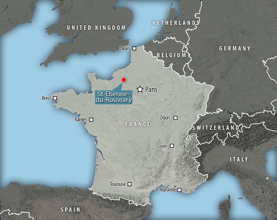 A priest, two nuns and two churchgoers were among those held after the men rushed into the church in Saint-Etienne-du-Rouvray, in Normandy, France, during a morning service, soon after 9am.