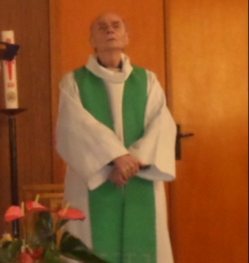 The clergyman, named as Jacques Hamel (pictured), was knifed to death during the attack while another hostage is fighting for their life in hospital