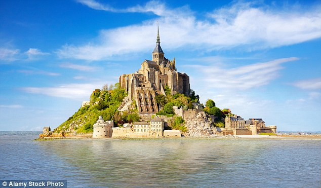 The intended location in real life, the boast-worthy Mont St Michel, an island commune in Normandy, France