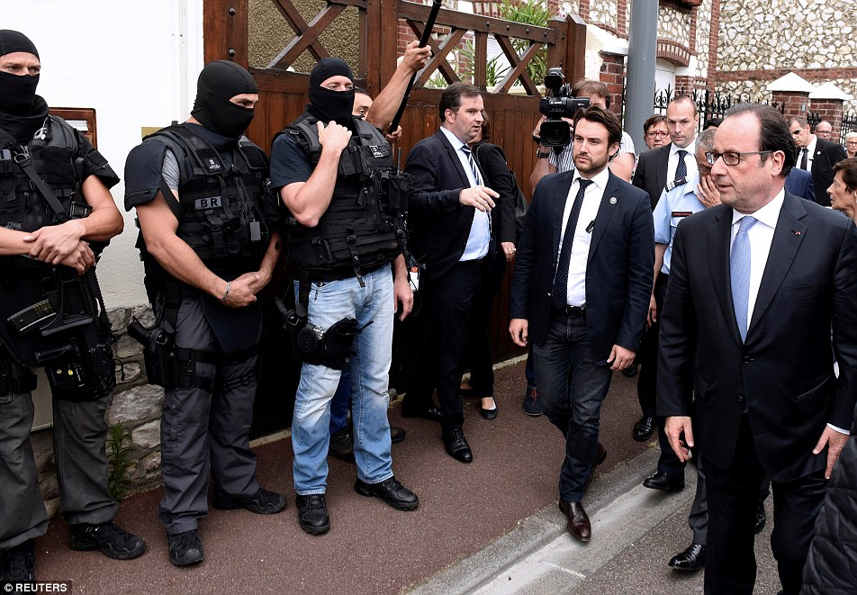 French president Francois Hollande has pledged to fight the ISIS 'using all means possible' after an attack on a church in Normandy which resulted in the murder of an 84-year-old priest