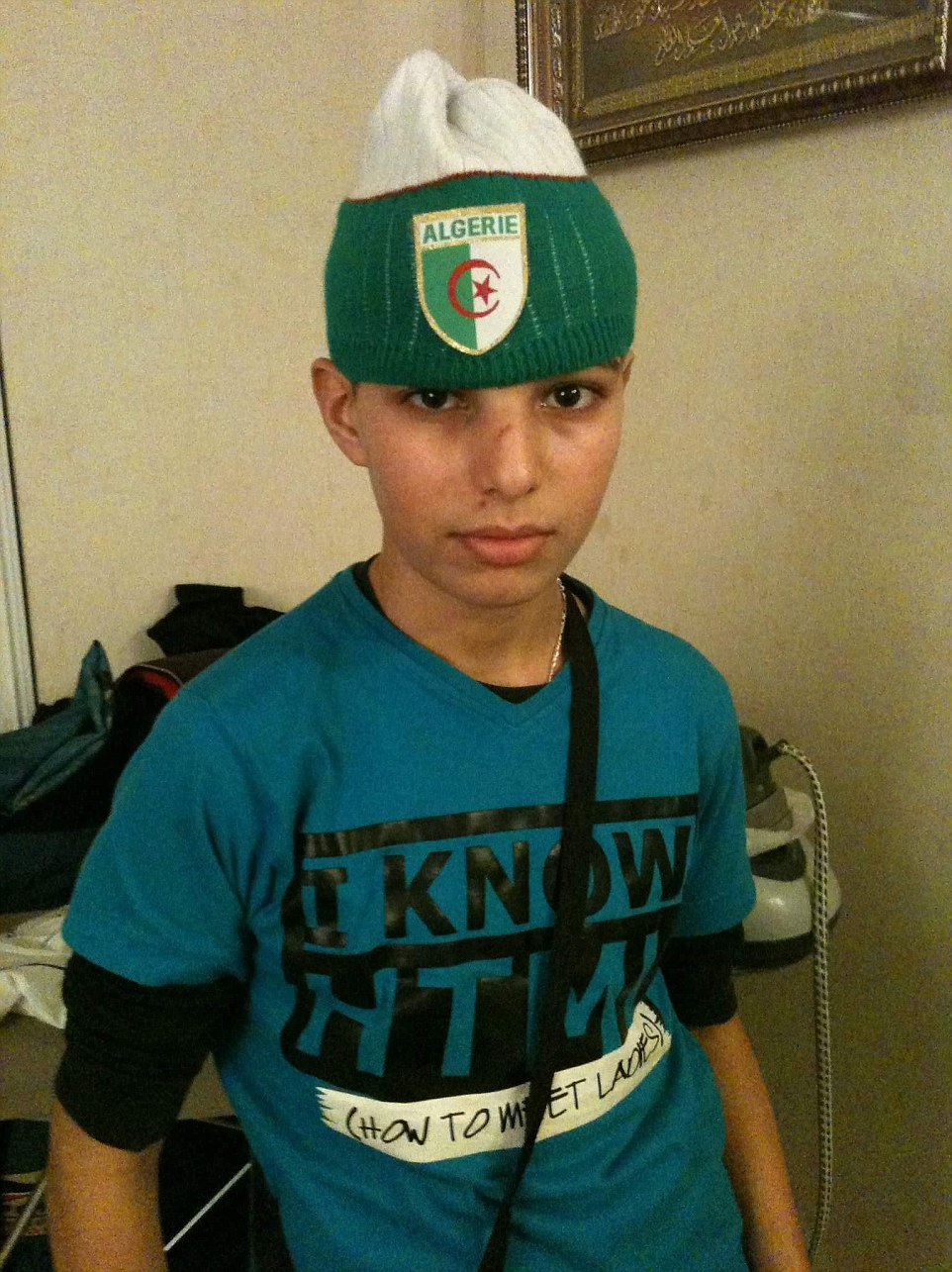 Adel Kermiche (pictured in 2011), 19, has been named as one of the two ISIS knifemen who stormed into a church in Normandy and cut the throat of an 84-year-old Catholic priest before being shot dead by police