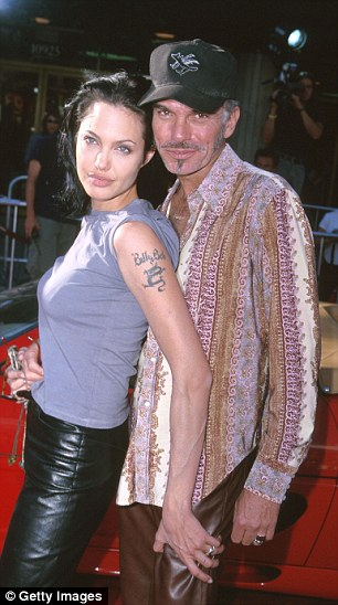 A whirlwind marriage to actor Billy Bob Thornton in 2000 after a two-month courtship prompted Angelina, now 41, to have his name and a dragon tattooed on her shoulder