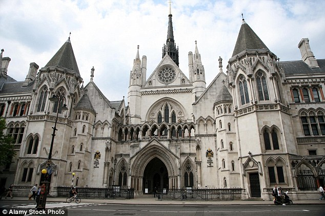 Hearing: Miss Al-Jeffery has since been held as a prisoner at her father's home in Jeddah, the family division of the High Court in London (pictured) was told yesterday