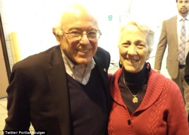Ohio delegate Portia Boulger (pictured with Bernie Sanders) said the DNC needs to 'clean house'
