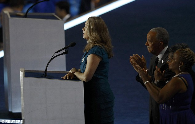 Jennifer Loudon addresses the Democratic National Convention in Philadelphia
