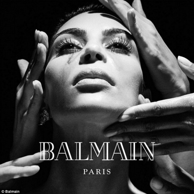 Queen of the Balmain Army? Balmain's latest ad campaign features Kim Kardashian