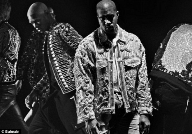 Musically inclined: The seven-minute music video stars Kanye, front and center