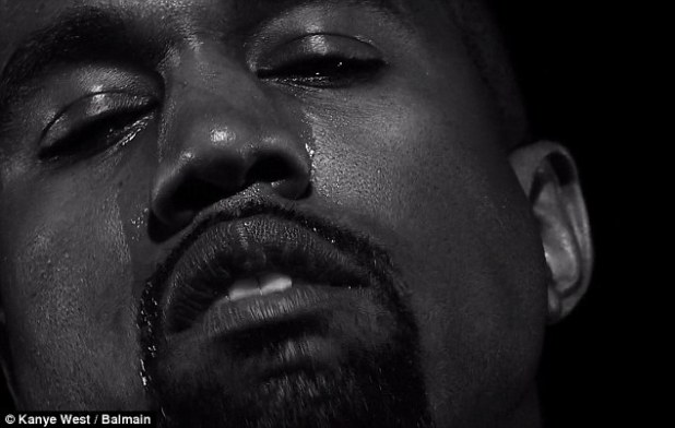 The video offers plenty of close-ups of Kanye's crying face