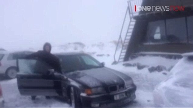 Mt Ruapehu was closed on Sunday after it was hit by two metres of snow during a fierce blizzard
