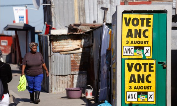 South African ruling party faces challenge in elections ...