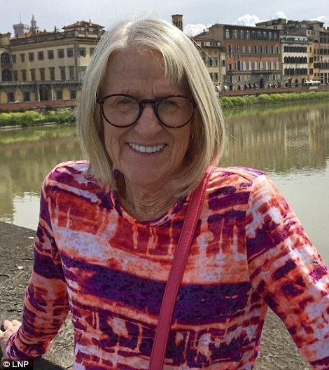 Retired teacher and keen tennis player Darlene Horton, 64 (pictured), was due to return to America today with her Florida professor husband but was stabbed to death by a Somali-born knifeman in the Russell Square attack