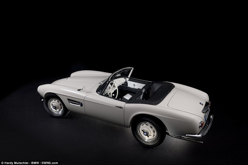 A rare 1957 BMW 507, which was originally purchased and owned by the king of rock and roll Elvis Presley, has been restored