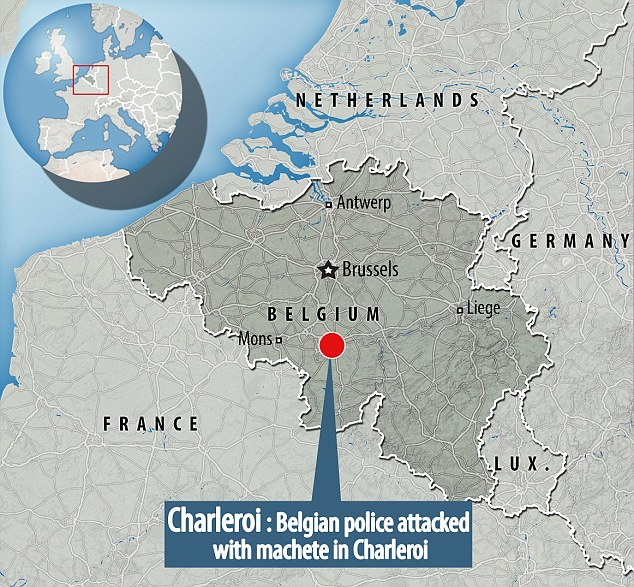 The attack took place in Charleroi, Belgium, which remains on high alert in the wake of attacks which killed 32 people in March this year