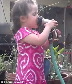 Grandma captures the moment a girl sprays herself in the ...