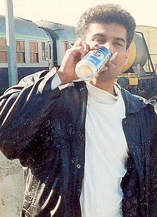In this picture, Choudary is seen sipping from a can of Fosters while holding what looks like a cannabis joint between his lips
