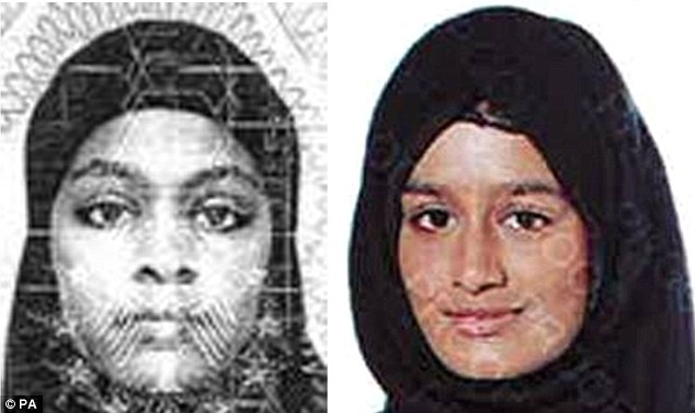 Kadiza's friends Amira Base (left) and Shamima Begum (right) are thought to be alive