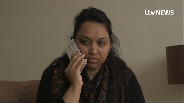 Kadiza's sister Halima is pictured speaking to her on the phone shortly before her death
