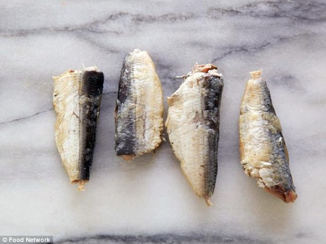 Just four canned sardines in oil make up a serving after they've been drained