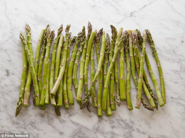 You can eat 31 asparagus spears before reaching the mark