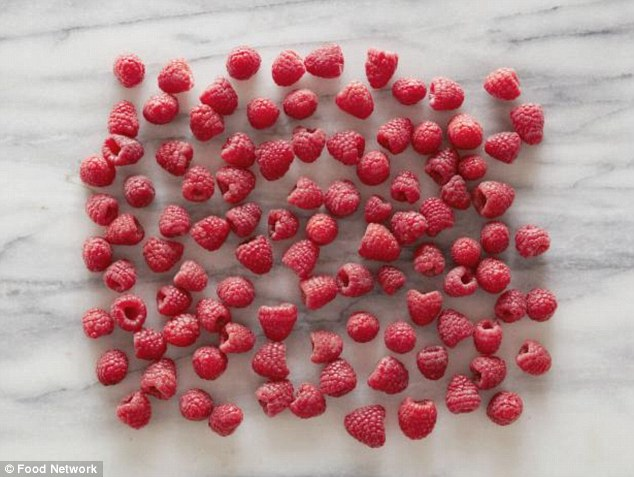 100 raspberries equals the same number of calories
