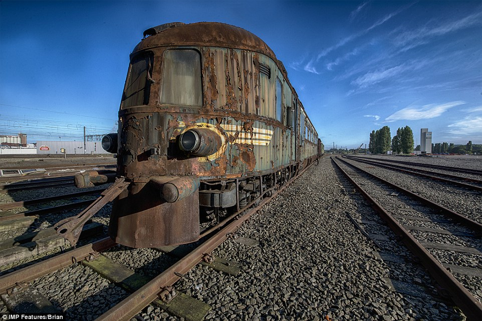 It has gained a reputation among urban explorers as an old Orient Express train, but it is a former Belgian national train