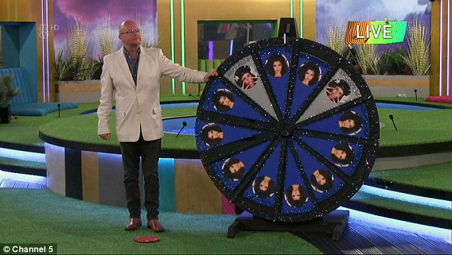 Taskmaster: After receiving the most votes, James was given the honour of spinning the wheel which would determine the housemates fate