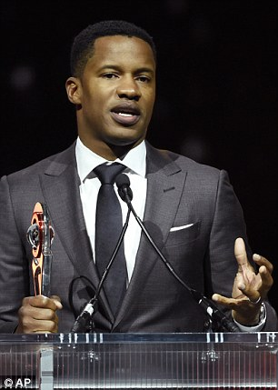 Parker (pictured accepting the Breakthrough Director of the Year award during the CinemaCon Big Screen Achievement Awards in April) who previously had a consensual encounter with the girl, was acquitted in 2001